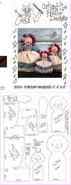 Super Ideas For Sewing Dolls Patterns Raggedy Ann Primitive Doll Patterns, Ann Doll, Raggedy Ann And Andy, Sewing Dolls, Doll Tutorial, Fabric Dolls, Rag Dolls, Soft Dolls, Doll Crafts