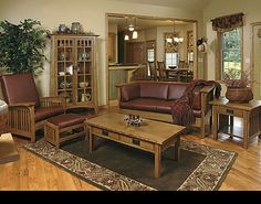 Gentil Mission Style Living Room (Schrocks Of Walnut Creek)