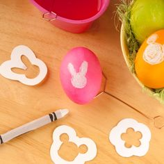 Have the kids decorate Easter eggs with these cute stencils by spoonful.com