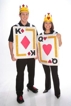 King and Queen Card Costumes