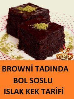 Islak Kek Browni Tarifi A super wet cake recipe with full restrained consistency . Brownie Cake, Brownie Recipes, Cake Recipes, Dessert Recipes, Healthy Cake, Vegan Cake, Easter Cookie Recipes, Matcha Dessert, Cupcake Recipes