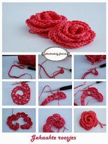 dica para fazer uma linda flor em crochê, fica ótima para broche, fivela de cabelo...    Flor em crochê      {imagem pinterest}