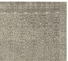 Luna Tonal Tufted Rug - Gray | Pottery Barn