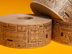 Packaging Tape by Justin Pervorse for MailChimp