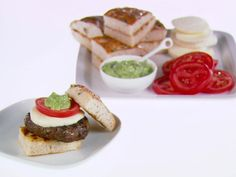 Get this all-star, easy-to-follow Caprese Burgers recipe from Giada De Laurentiis