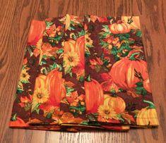 Items similar to Cloth Dinner Napkins - Autumn, Fall - Pumpkin Design, Handmade - Eco Friendly on Etsy Cloth Dinner Napkins, Fall Dinner, Autumn Fall, Fall Pumpkins, Eco Friendly, Etsy Shop, Orange, Brown, Unique Jewelry