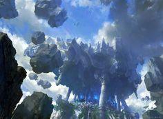 City of the sky, lok du on ArtStation at https://www.artstation.com/artwork/city-of-the-sky