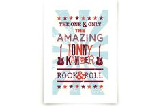 Rock & Roll Poster by Shari Margolin at minted.com