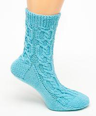 Ravelry: Double Cable Twist w/ Seed Panel Socks pattern by Jean Murdoch