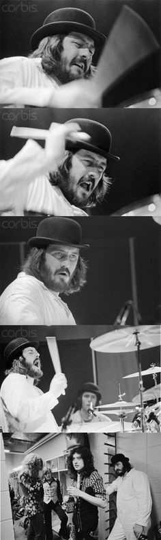 John Bonzo Bonham | Led Zeppelin.  IT'S SAID THAT BONZO WAS ONE OF THE BEST DRUMMERS OF ALL TIME.  RIP! ♥