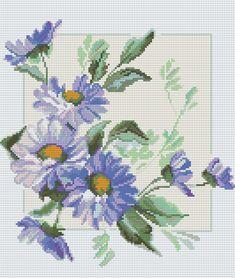 Скачайте схемы Картина «Весенние цветы», вид рукоделия Вышивка крестом…