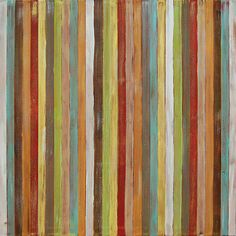 Original modern contemporary abstract stripes painting: acrylic on canvas, 30x30, by @Jason Stocks-Young Boyett