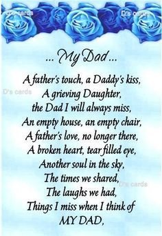 1 year anniversary poems of dad in Heaven - Google Search
