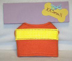 Puppy/Dog Jacket - XXSmall - Bright Orange Fleece with Safety Reflector by PatienceWayShop on Etsy
