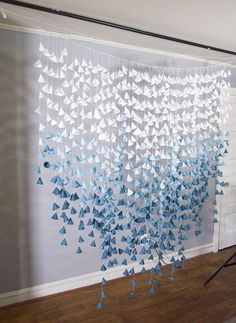 Super Ideas for simple wedding decorations backdrops lights Simple Wedding Decorations, Simple Weddings, Paper Lantern Decorations, Paper Flower Garlands, Paper Flowers, Origami Flowers, Car Wrap Design, Teal Ombre, Paper Backdrop