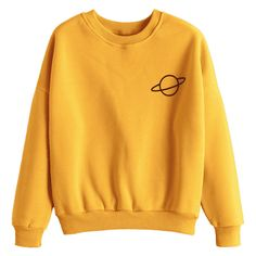 Planet Drop Shoulder Sweatshirt Ginger (62 RON) ❤ liked on Polyvore featuring tops, hoodies, sweatshirts, shirts, sweaters, yellow top, yellow sweatshirt, drop shoulder sweatshirt, drop shoulder shirt and ginger tops