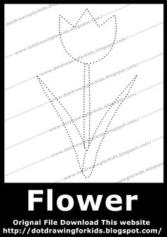 Dot Drawing For Kids: Flowers