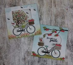 'Bike Ride' , 'Sheltering Tree', bird from 'Wherever You Go', branch from 'Seasonal Layers Thinlits' Stampin'Up! www.stamp-ing.blogspot