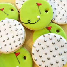 Sweet Jenny Belle - Golf Cookies _ pictures and video. These are perfect for the golfer in your life or maybe Mother's Day or Father's Day