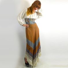 Hippy Dippy Chic: 70s Peasant Blouson Bodice Dress now featured on Fab.