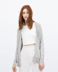 Image 2 of KNITTED CARDIGAN WITH POCKETS from Zara