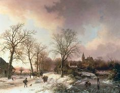 Barend Cornelis Koekkoek - Winterlandschaft bei Bedburg am Niederrhein
