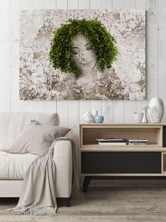 Nature Made, Mixed Media Green Eco Art, Cottage Chic Canvas Art, Urban Rustic Green Beige Eco Art Print up to by Irena Orlov Urban Rustic, Rustic Art, Acrylic Painting Canvas, Canvas Art Prints, Canvas Wall Art, Art Prints For Home, Large Artwork, Green Art, Home Decor Wall Art