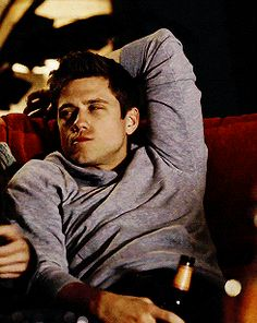 Aaron Tveit seriously needs to stop blinking his eyes like that jfc that man is beautiful <3 (gif)