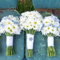 White Daisy Wedding Bouquets