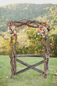 Rustic Wedding Arch...  nice !