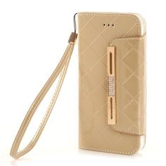 iPhone 6 Case KINGCOOL(TM) Premium Luxury Bling Purse Leather Wallet Handbag Case Cover for Women with Detachable Shoulder Chain Strap Compatible with Apple iPhone 6 4.7 Inch(A-Gold) Specially designed for Apple iPhone 4.7 inch Made of high quality PU leather material+magnetic flip design Includes slots to store your credit cards / business cards Provides great protection with easy installation Full access to all functions