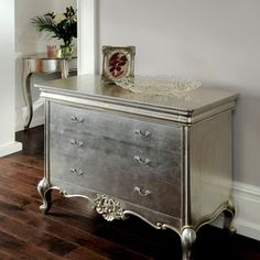 silver leafing furniture - Google Search