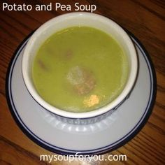 Potato and Pea Soup - Smooth and flavorful and desk friendly!