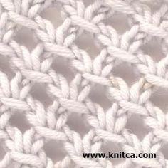 Pretty knitted lace pattern