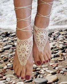 How to Make Easy Barefoot Sandals