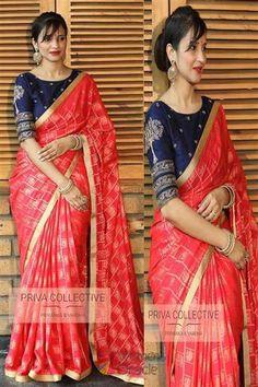 1de5dd27e5 Color Top Blue Fabric Top Banarasi Silk Color Bottom Pink Fabric Bottom  Jacquard Silk Occasion Festival, Wedding Weight 1 KG Work Zari Weaving Work  Fabric ...