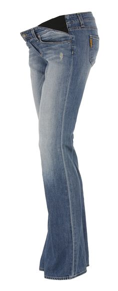 Red Maternity Jeans from Boob Design with Over Belly Support Panel ...