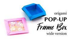 Origami Pop-Up Frame Box - Picture Frame - Wide Version - Paper Kawaii