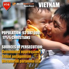 Here, Christians are perceived as Western agents and the state, with the help of tribal leaders, watches churches closely.  Learn more about Christian persecution in Vietnam, here: http://ht.ly/Mhk27