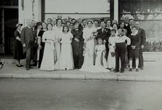 1930's Photograph  The Wedding Party by ChicEtChoc on Etsy