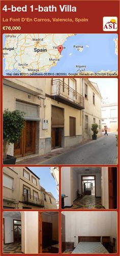 4-bed 1-bath Villa in La Font D'En Carros, Valencia, Spain ►€76,000 #PropertyForSaleInSpain
