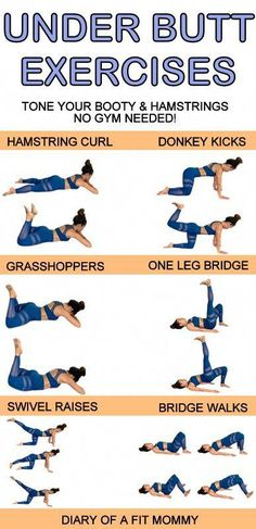 Lift and perk up your booty with these 6 exercises you can do at home-no gym or equipment needed. This workout will help you reduce the fat between your glutes and hamstrings to add more shape to the bottom of your butt! workout at home no equipment Fitness Herausforderungen, Training Fitness, Dieta Fitness, Strength Training, Physical Fitness, Fitness Quotes, Fitness Motivation, Weight Training, Fitness Humor