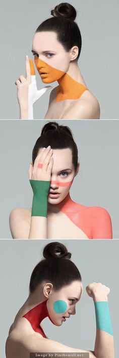 We could experiment with face & body painting. #FashionPhotography