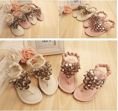 Free Shipping 2014 Fashion Girls Summer Shoes sandals Sweaty Flip Flops anti-Slides Designer Sandals With Sequined $28.55