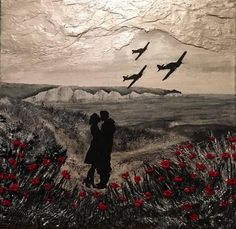 'Till We Meet Again' by Jacqueline Hurley, Remembrance Artist of The War Poppy Collection Hawker Hurricanes over the white cliffs of Dover. Battle of Britain Original painting Remembrance Day Poppy, Remembrance Day Drawings, Remembrance Day Pictures, Remembrance Poems, War Tattoo, Armor Tattoo, Norse Tattoo, Viking Tattoos, Tattoo Ink