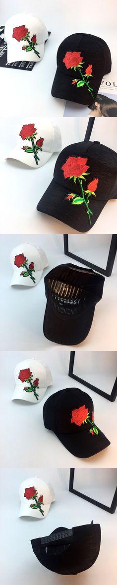 Fashion Hip Hop Snapback Caps Women 2017 Gorras Mujer Korean Ulzzang Harajuku Floral Embroidery Baseball Caps Unisex Casual Hat