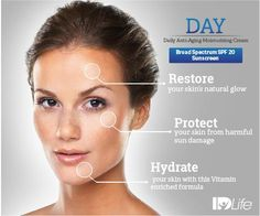 Enhance the youthful glow of your skin with IDLife Day Cream with SPF 20. Visit http://healthmatters1st.idlife.com for details