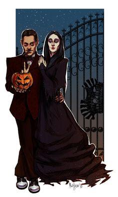 Gomez and Morticia doodle by *chilli-villi on deviantART