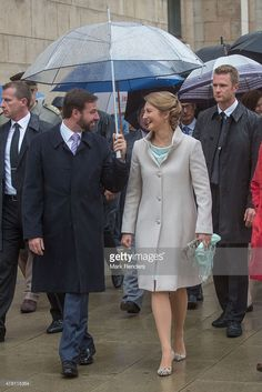 Prince Guillome and Princess Stephanie of Luxembourg visit Esch on National Day on June 22, 2015 in Esch-sur-Alzette, Luxembourg.  (Photo by Mark Renders/Getty Images)