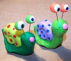 Snail clay project